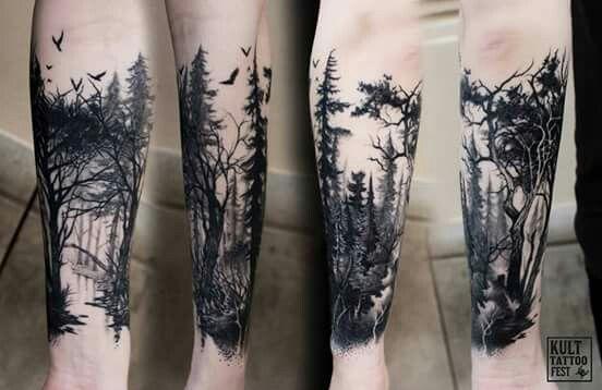 Woods Sleeve Tatoo Tatuajes Forestales Tatuajes Tatuajes