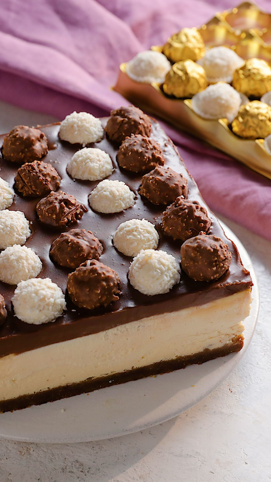 Cheesecake Ferrero Rocher #cheesecake