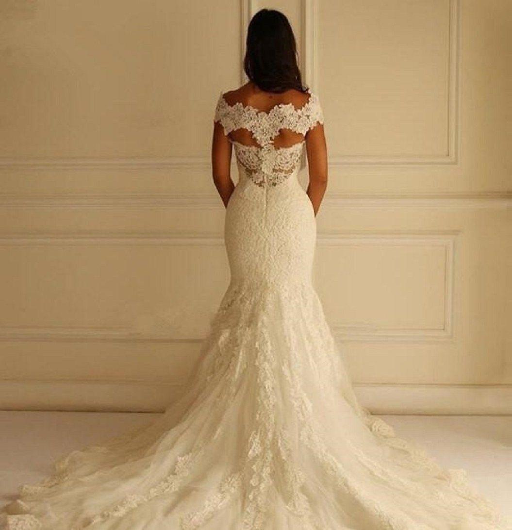 Plus size bling wedding dresses  Mermaid Lace Wedding Dress at Bling Brides Bouquet Online Bridal