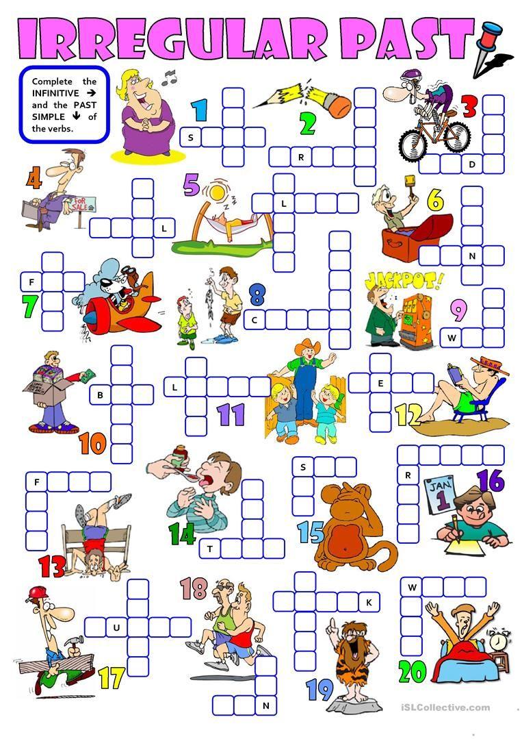 Irregular Past A Crossword Worksheet Free Esl Printable Worksheets Made By Teachers Teaching English Grammar English Vocab English Lessons [ 1079 x 763 Pixel ]