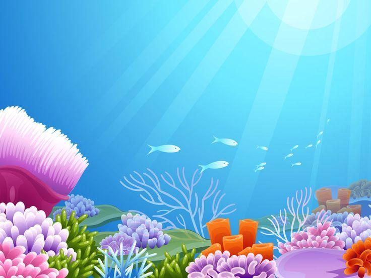 Fondo De Mar Animado Infantil Mar Animado Fondo De Mar Vector De Fondo