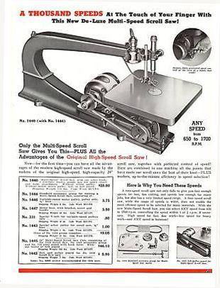 Vintage Delta Scroll Saw For Sale