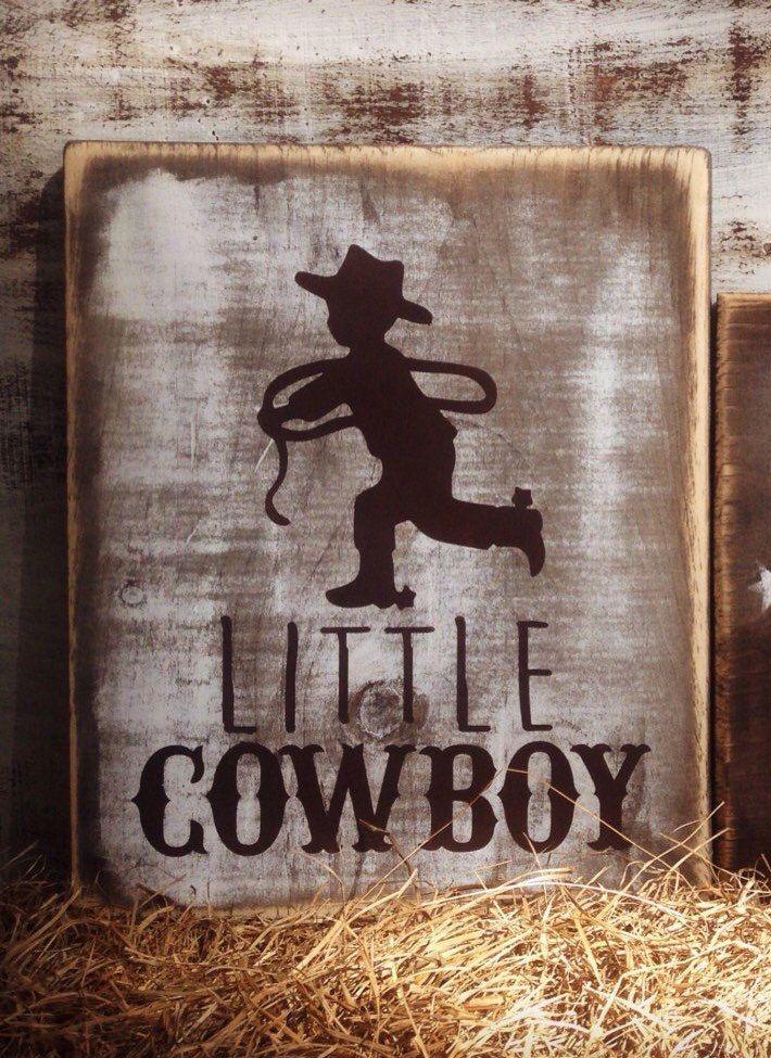 Rustic Cowboy Sign Nursery Decor Baby Bedding Western Shower