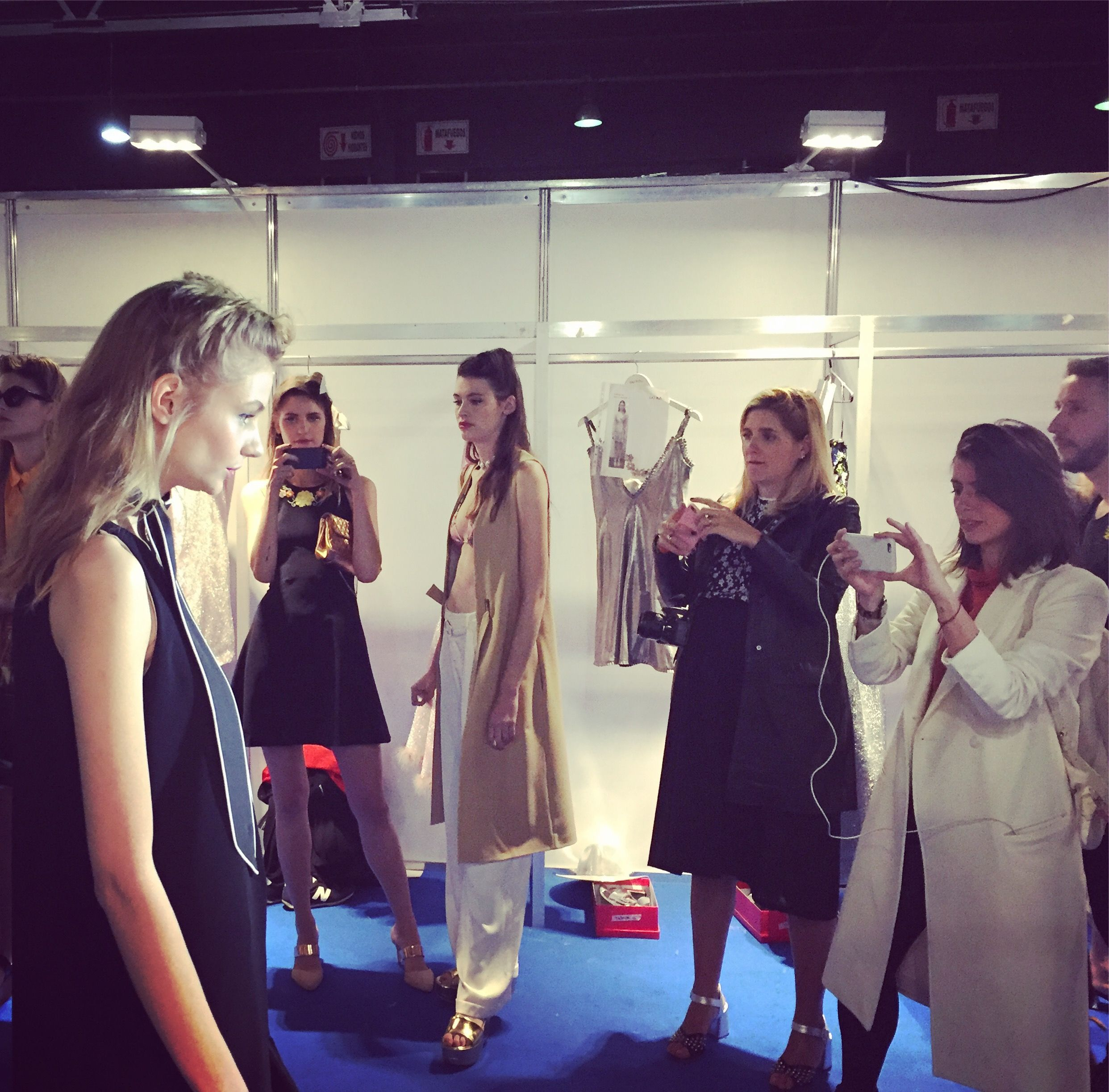At the back of the fashion shows! #work #work #work