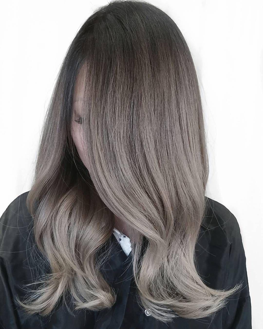 Ashy Brown Balayage Ombré   Balayage hair, Brown hair balayage ...
