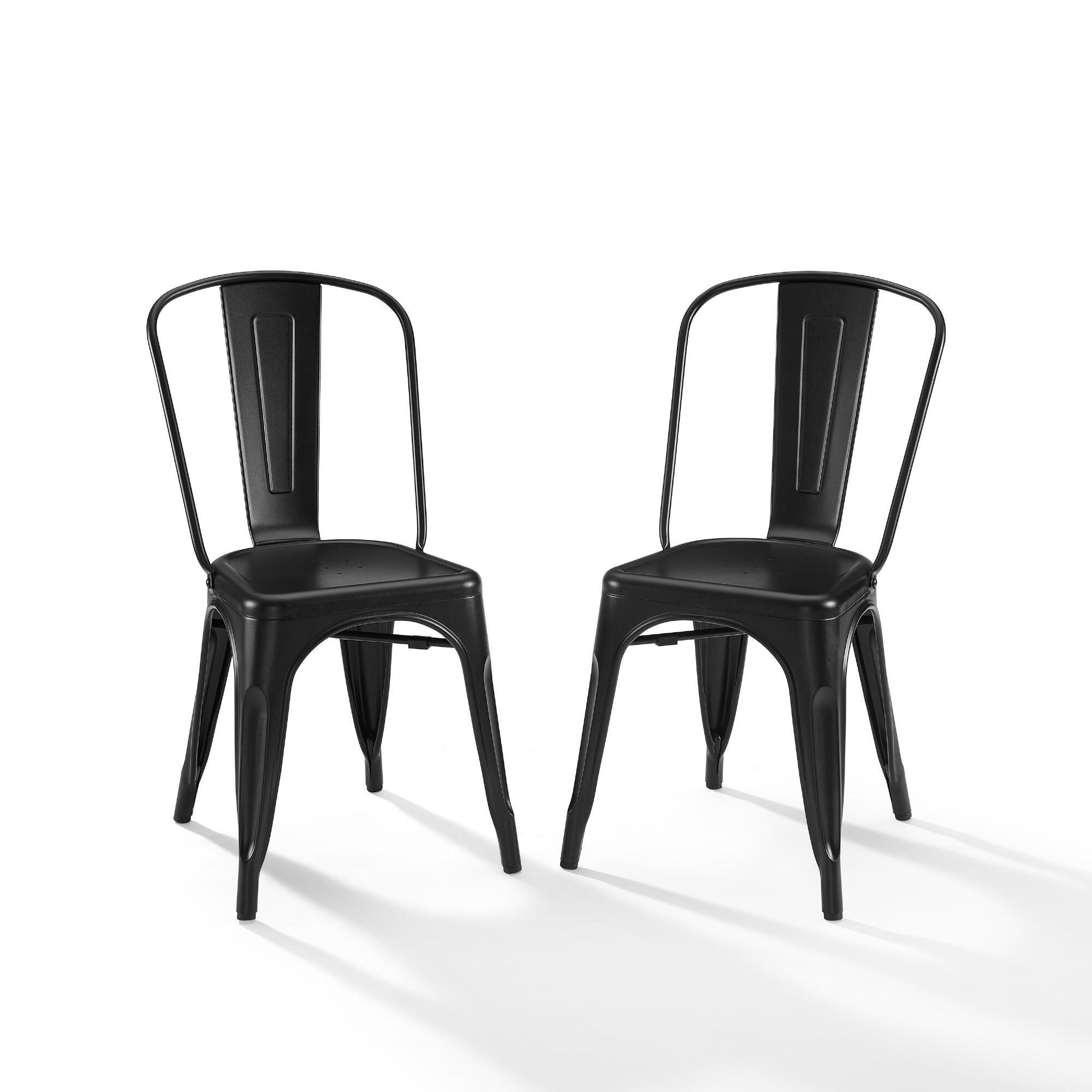Matte Black Metal Josiah Dining Chairs Set Of 2 By World Market In 2021 Black Metal Dining Chairs Dining Chairs Metal Chairs Black metal dining chairs