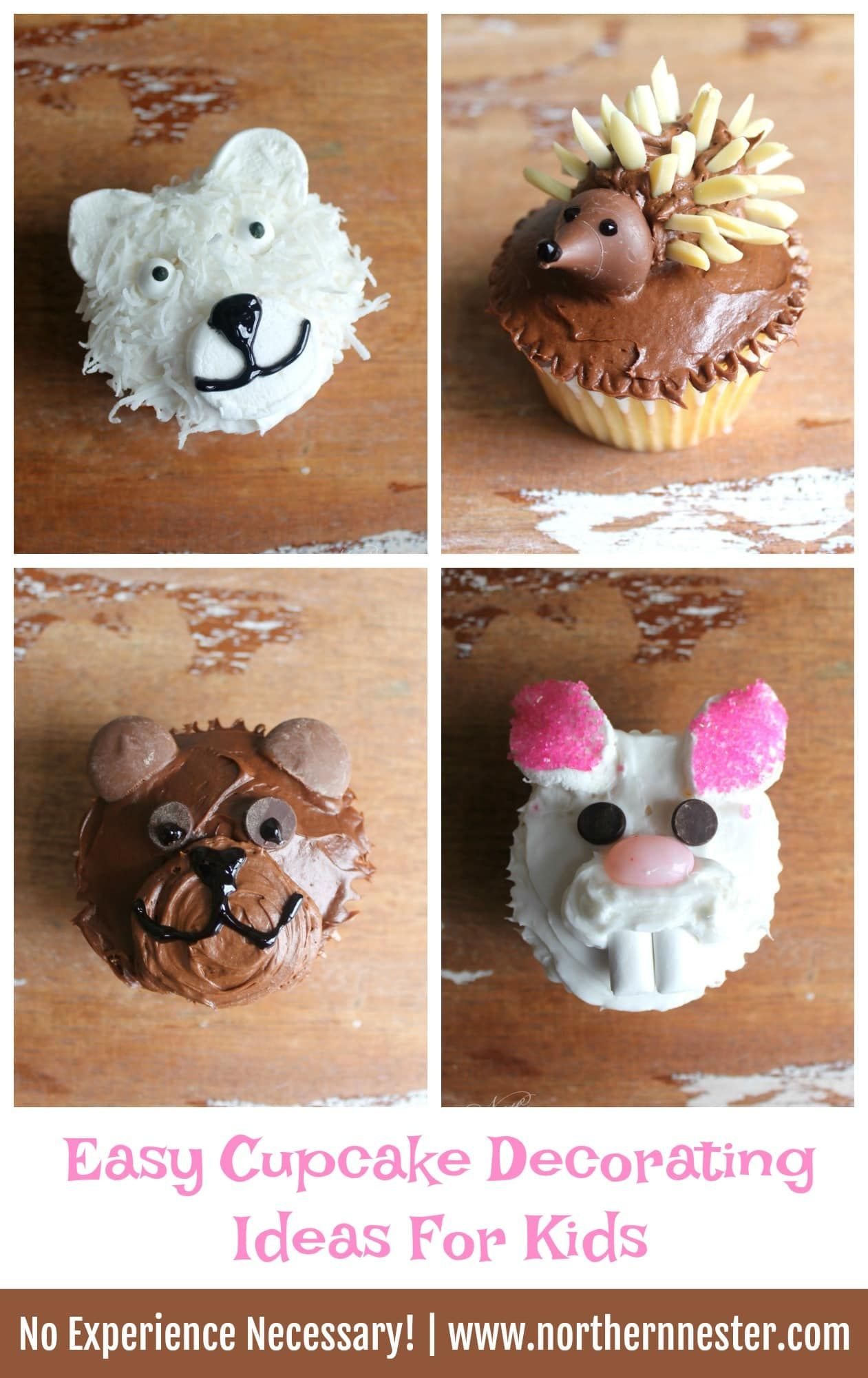 Easy Cupcake Decorating Ideas For Kids With Images Easy