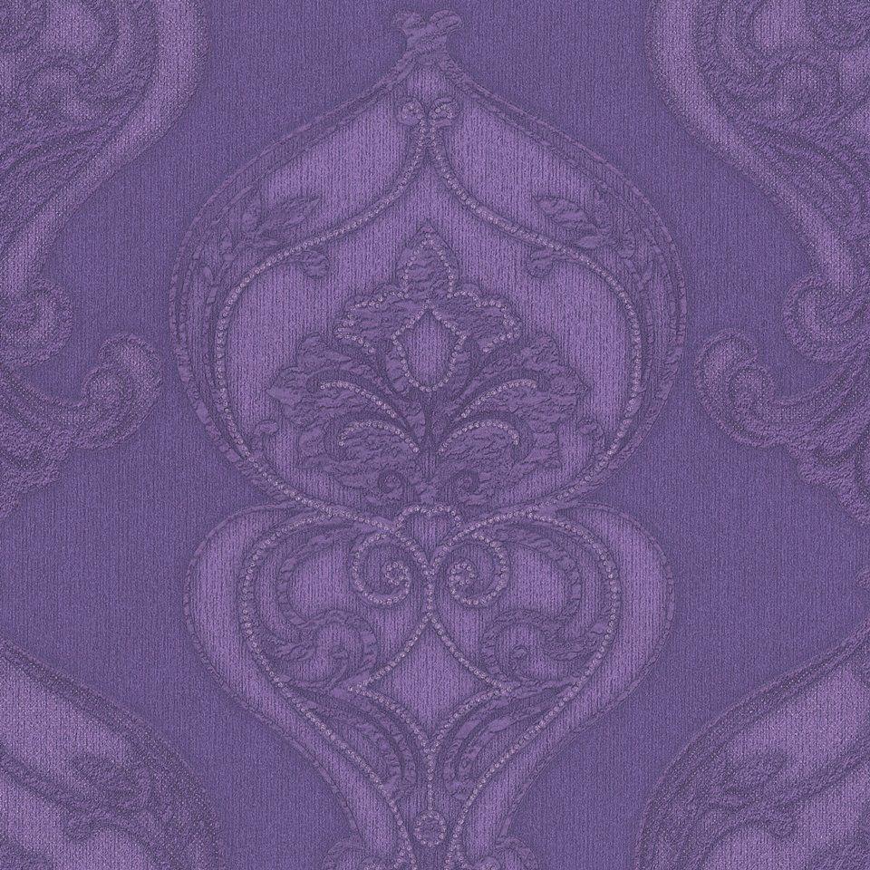 Modelo 2426-50. Color violeta con brillos en plata. #Papeltapiz  #Tiendaenlinea #Decoracion