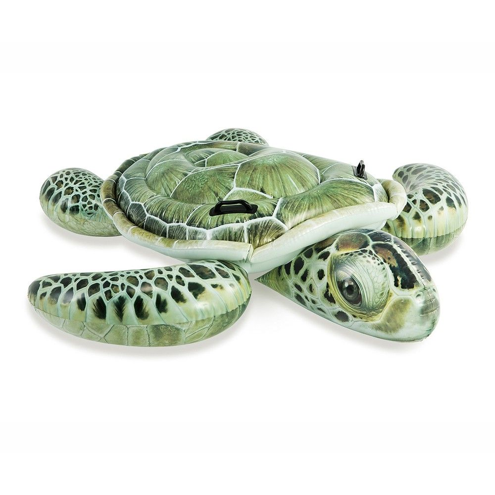 Intex Inflatable Realistic Turtle Ride On Cavalcabile Swimming Pool Beach Toy