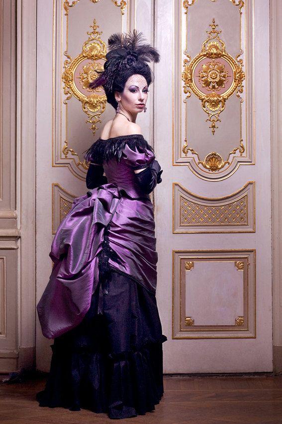 Victorian Vampire Ball Gown ~ Gothic Masquerade Wedding Bustle Dress ...
