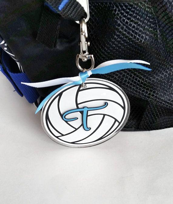 be50811f0f5 Personalized Volleyball Bag Tag - custom luggage tag - backpack tag - gym bag  tag - team gift - spor