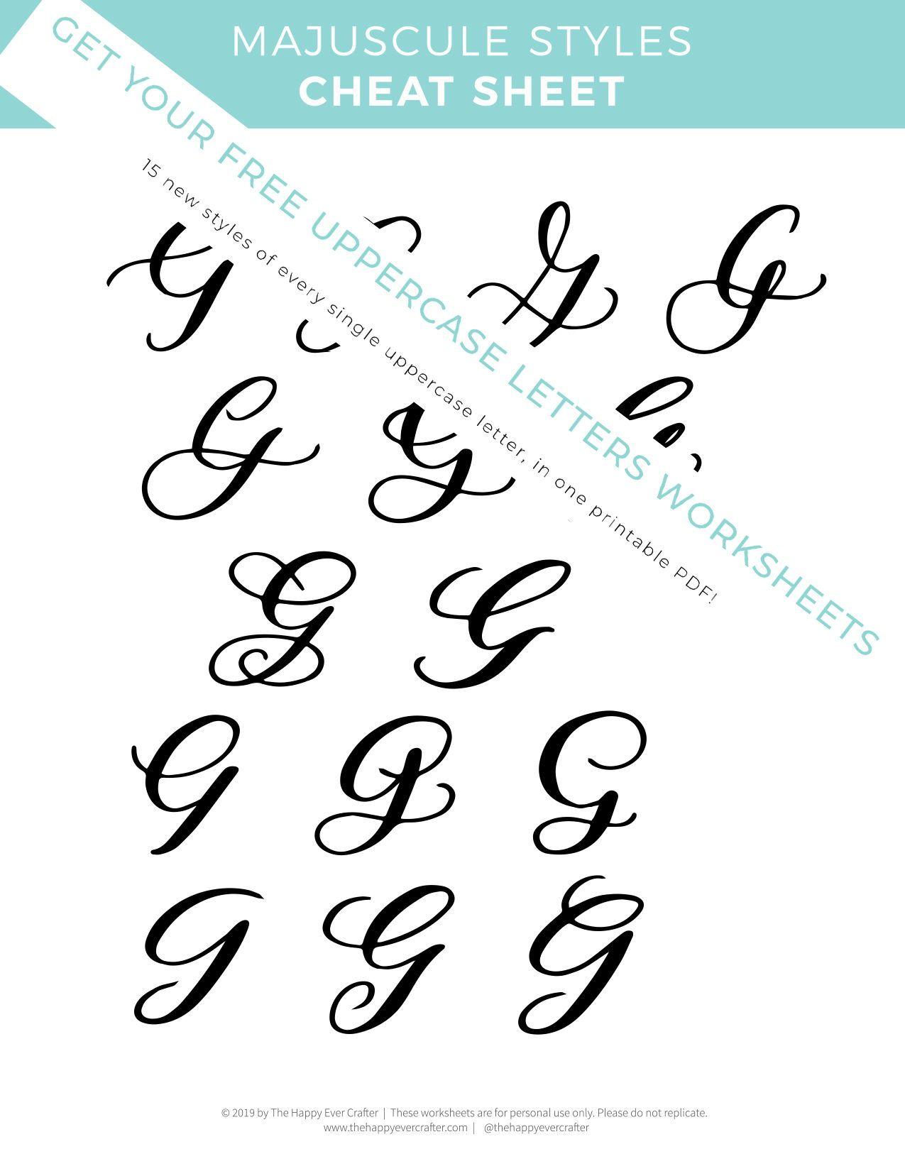 Free Majuscule Uppercase Letter Worksheets