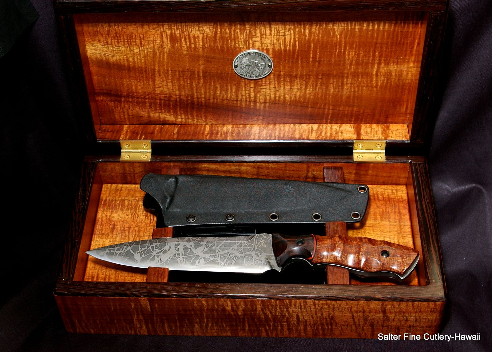 Collectible Knife In Custom Box Knife Handmade Knives Combat Knives