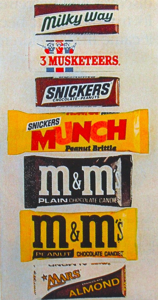 Vintage Mars Candy In Honor Of The M Ms World Store Opening Hackettstown Remember Getting Large Full Size Bars For Halloween