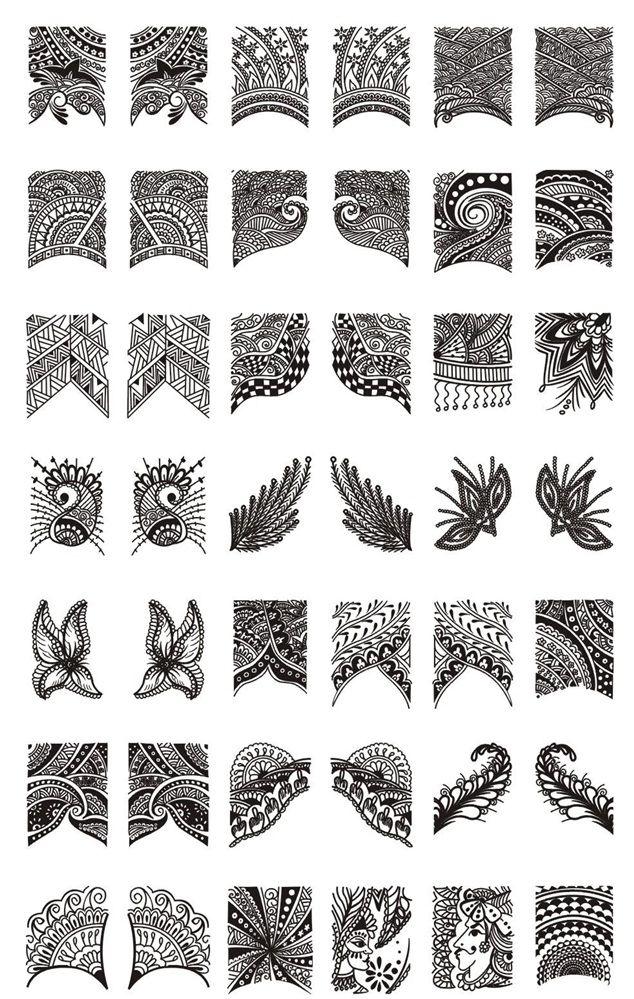 Cheeky - Jumbo Nail Art Plate- C, $11.49 (http://www.cheeky-beauty ...