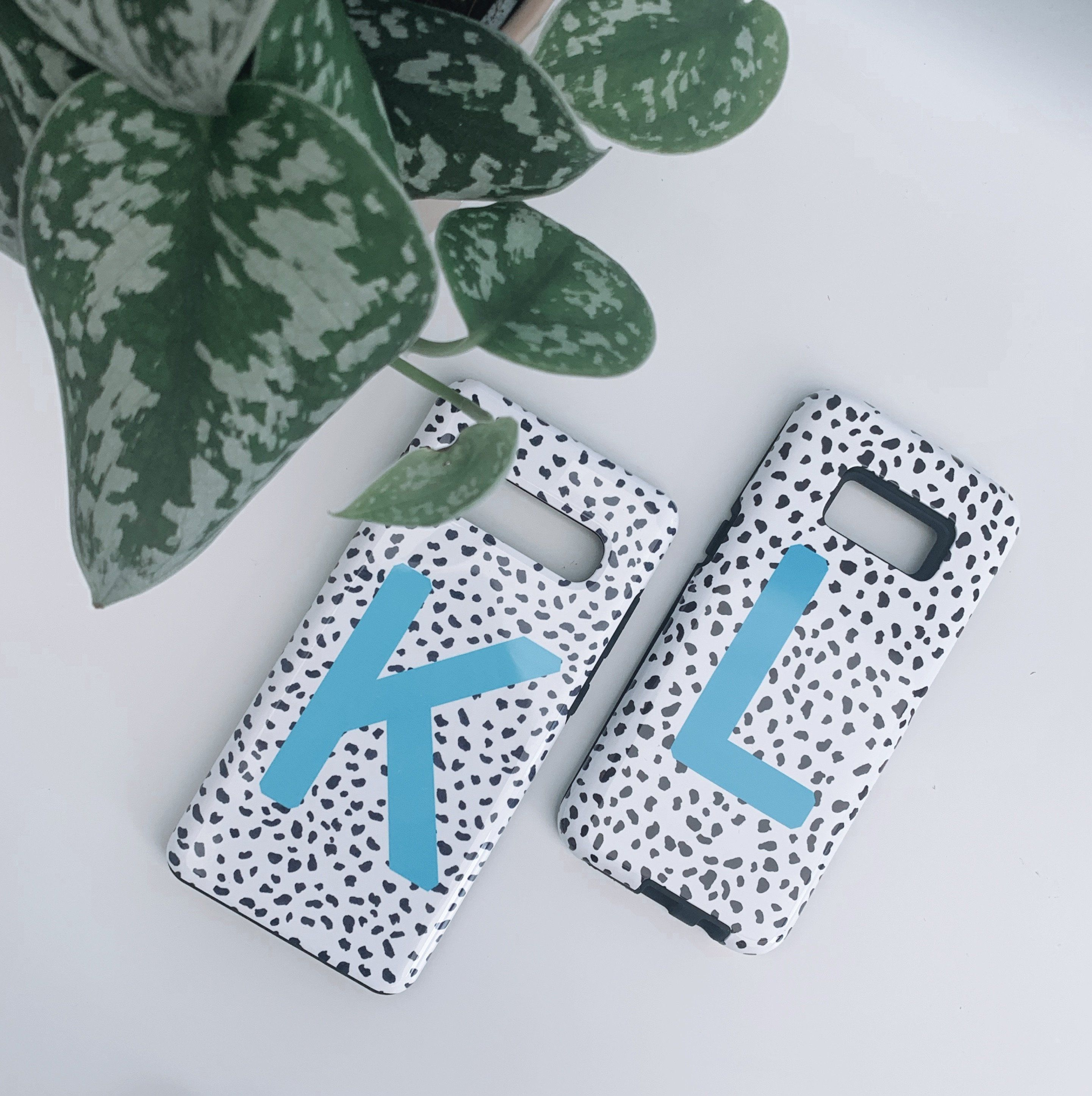 Blue Dalmatian Personalised Deluxe Tough Phone Case - iPhone X/XS