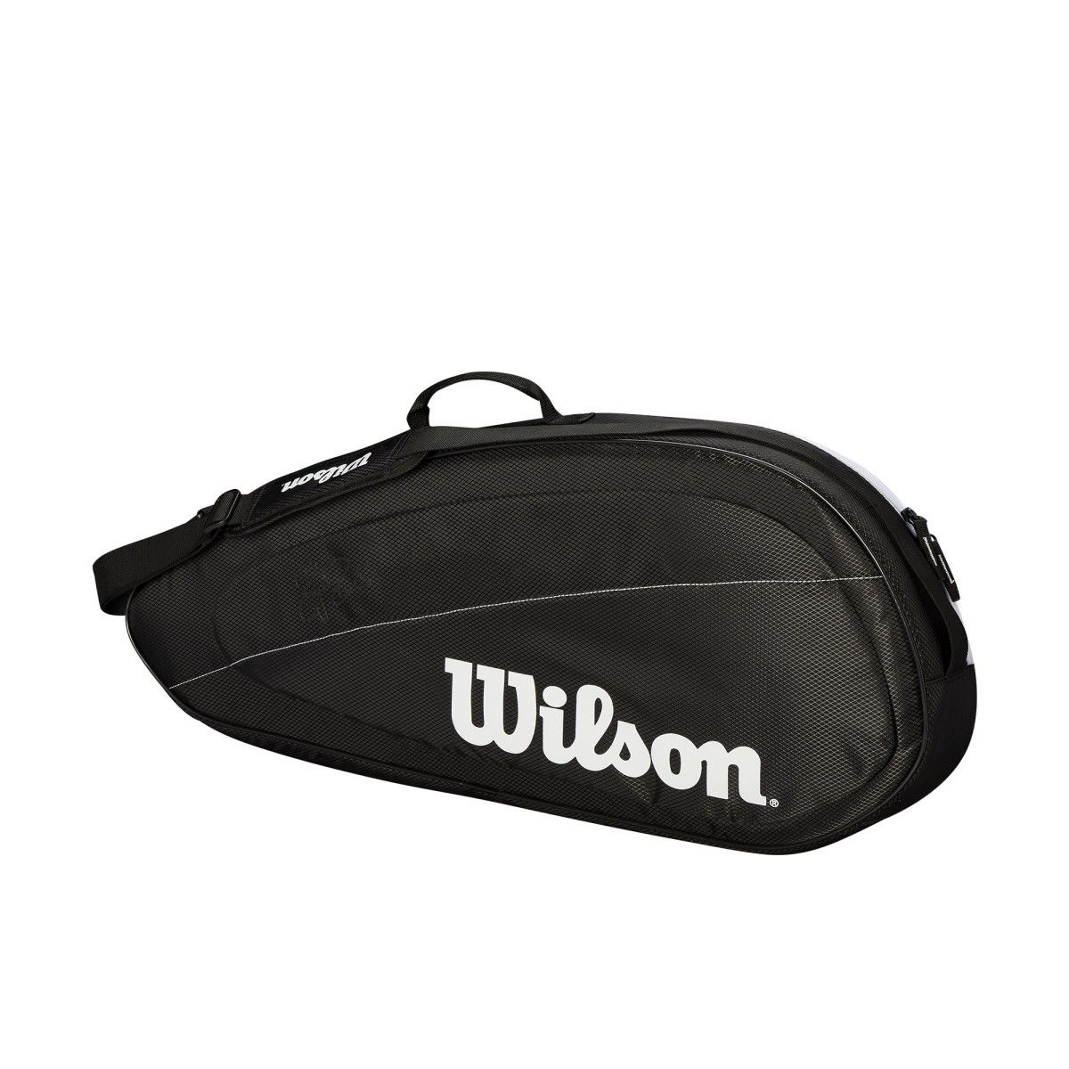 Wilson Fed Team 2018 3 Pack Tennis Bag Black White