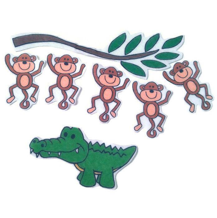 5 Little Monkeys Swinging In A Tree Fingerplay Nursery