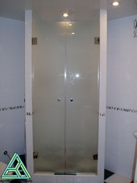 Frameless Shower Door Frosted Glass Home Decor Pinterest