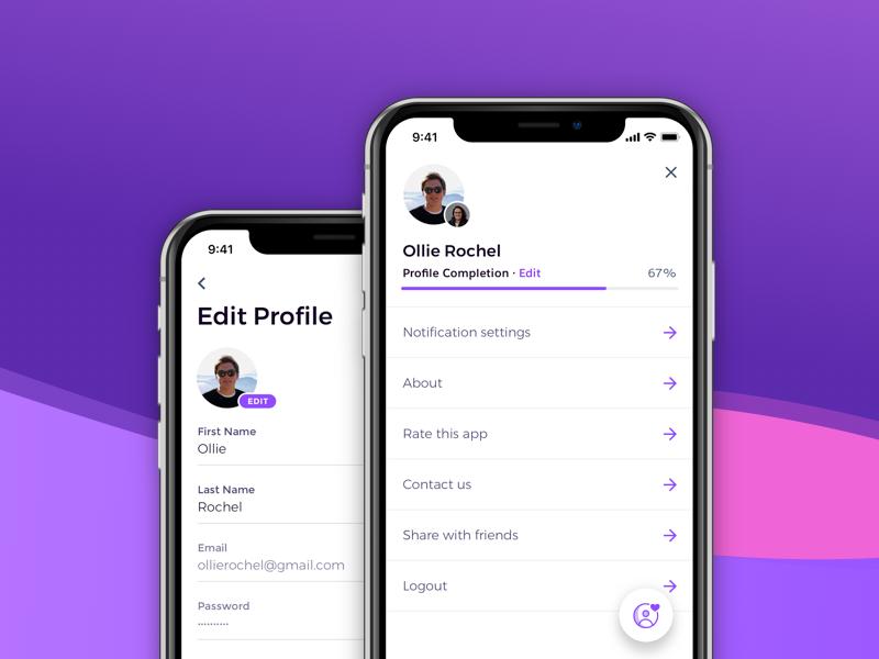 App Profile App Progress Bar App Design