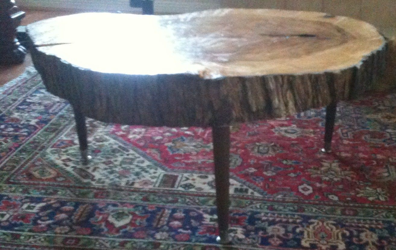Diy Coffee Table Cross Section Of Old Cypress Tree Learn