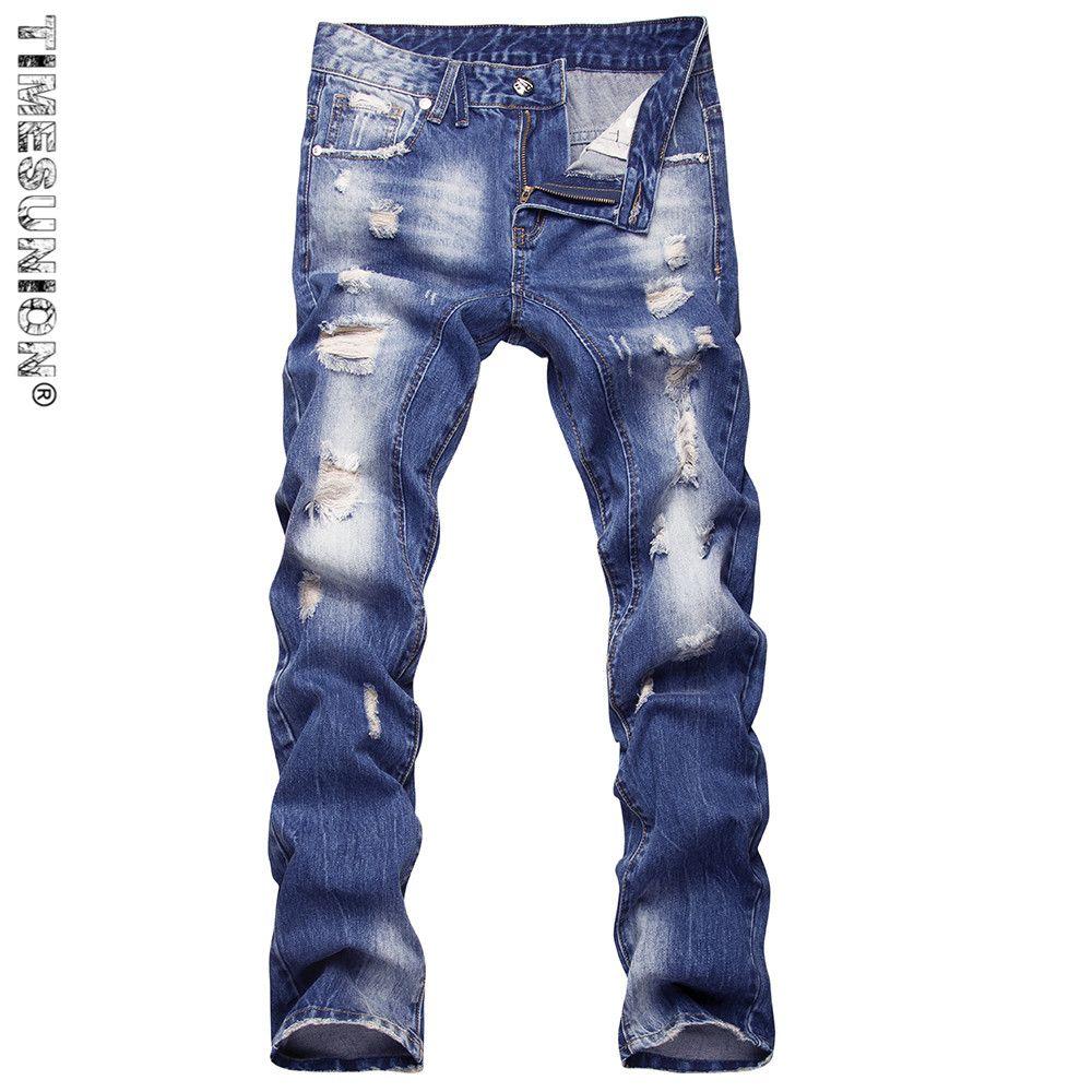 Suit on jeans