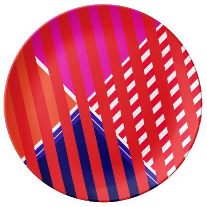 Bold colors fine graphic design dinner plate - patterns pattern special unique design gift idea diy  sc 1 st  Pinterest & Bold colors fine graphic design dinner plate | Bold colors
