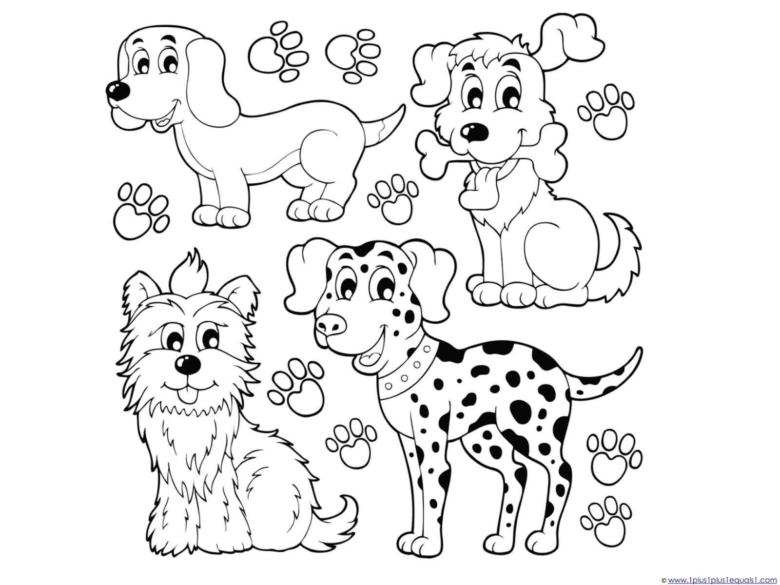 48++ Cat and dog colouring page info
