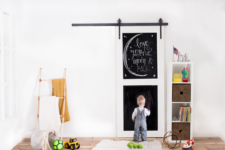 Chalkboard 2-Panel Sliding Barn Door | Best of Artisan Hardware ...