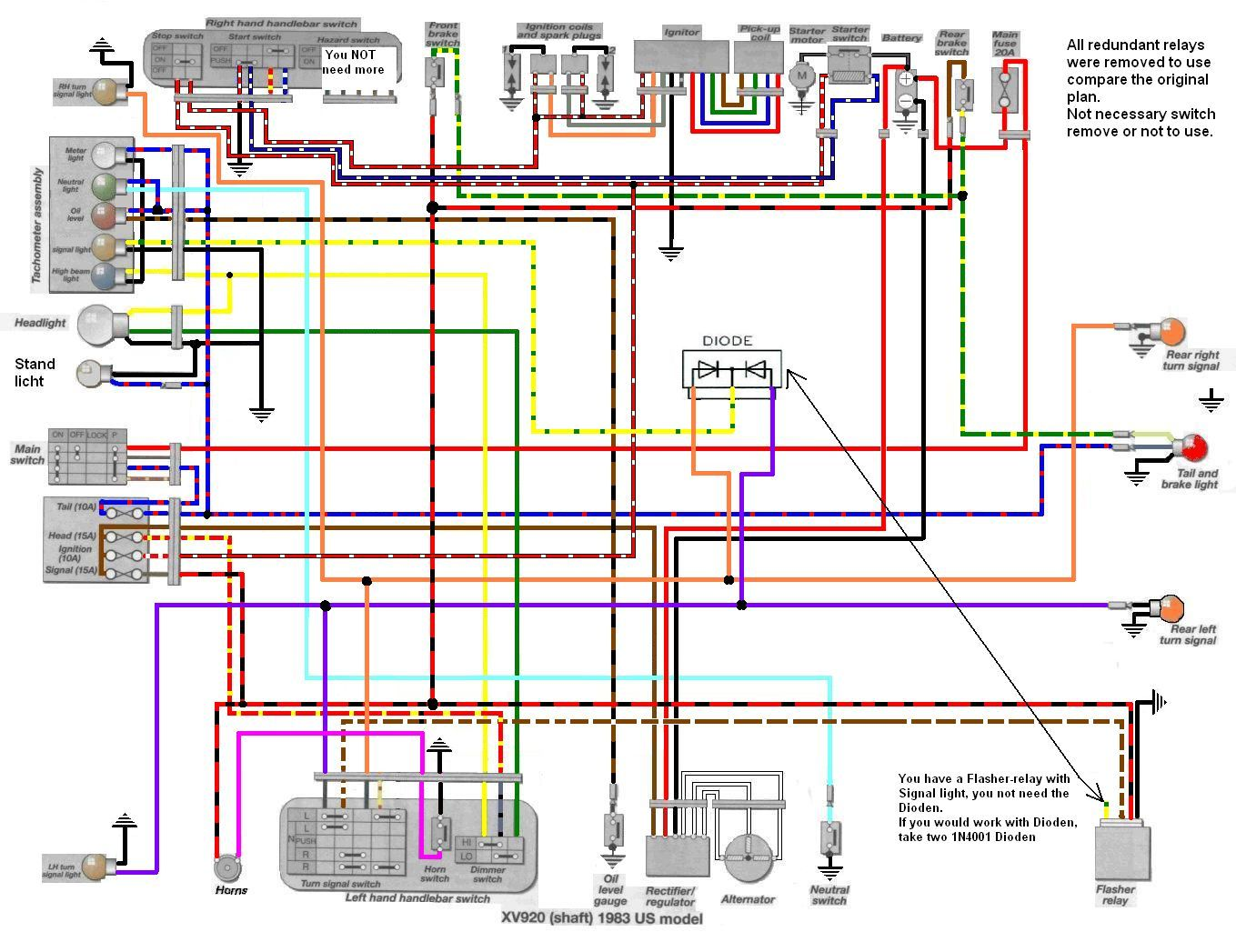 hight resolution of tr1 xv1000 xv920 wiring diagrams manfred s tr1 page all about wiring diagram virago bobber source yamaha xv