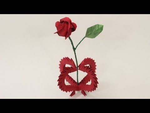 Valentines Day Gift 3D Origami Heart Vase