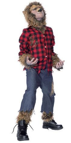 Wolfman Costume Halloween Fancy Dress