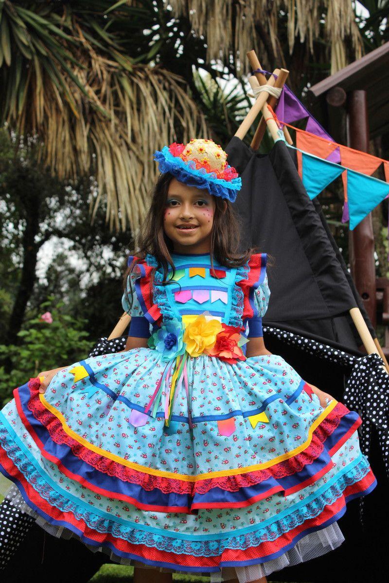 Vestidos De Festa Junina Pompons Coloridos E Divertidos