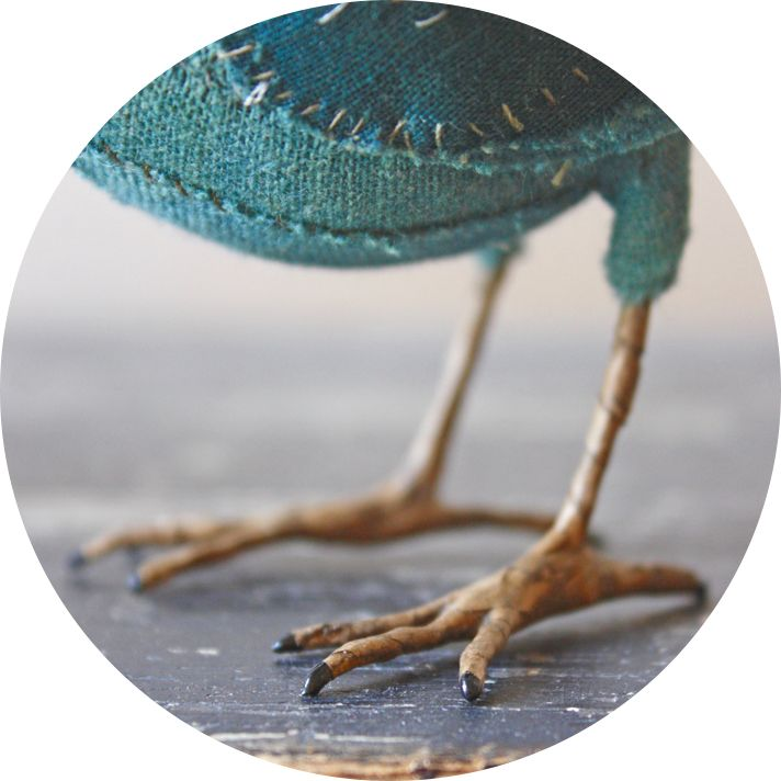 Make a realistic bird foot from wire: http://www ...