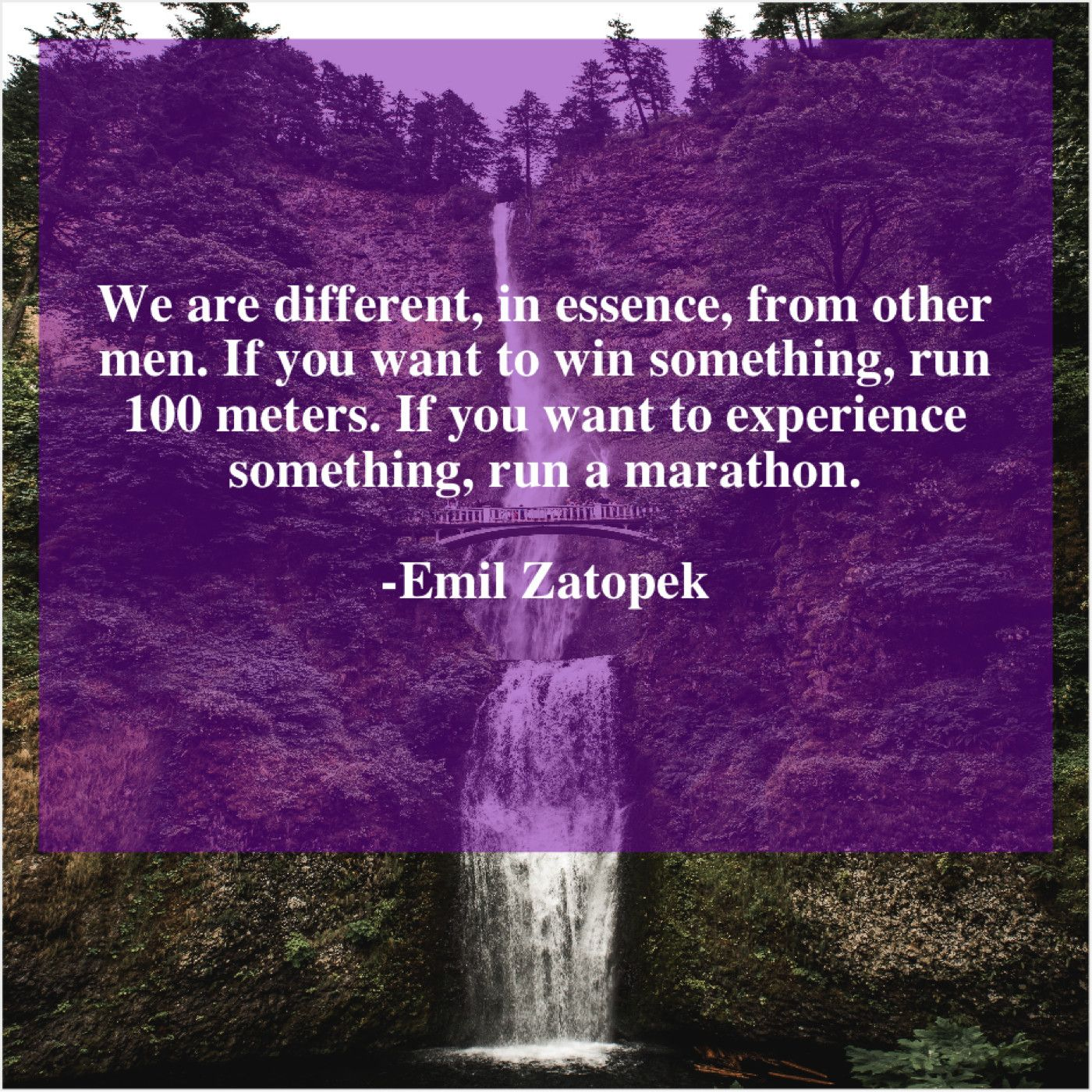 Emil Zatopek We Are Different In Essence Paul Tillich Idina Menzel People Of The World