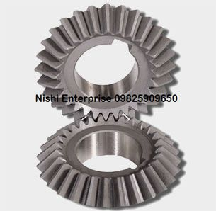 Spiral bevel gears are used to transmit power between shafts