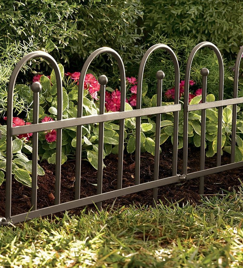 Iron Fence Wrought Iron Edging With Ground Stakes And Gunmetal