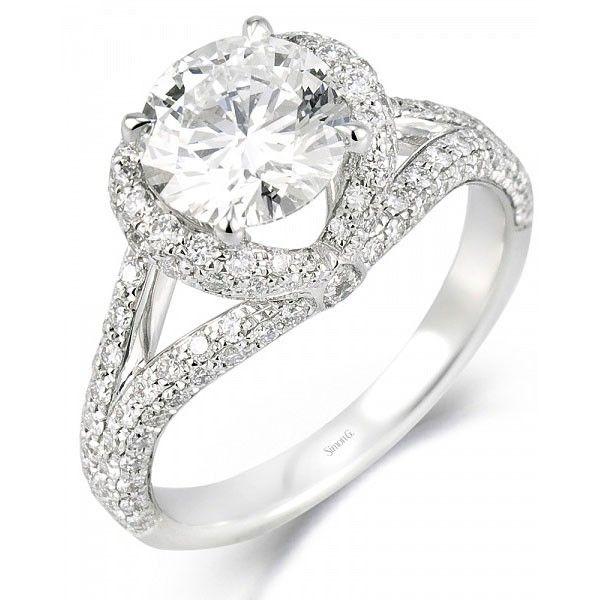 Simon G Mr1598 Engagement Ring 3520 Simon G Diamond