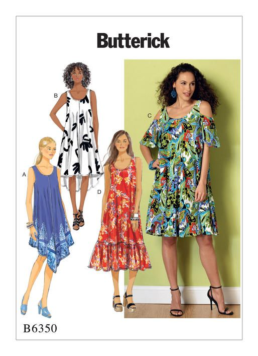 Easy, breezy dress sewing pattern from Butterick. B6350 Misses ...