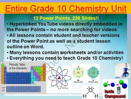 Chemistry Unit - Grade 10 - Full Lessons --u003e 12 Power Points, 238 - new periodic table lesson ppt