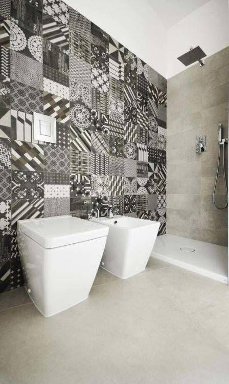 Mediun size of faience salle bain moderne carrelage de noir ...