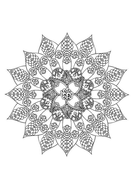 Mandalas Motifs Floraux A Personnaliser Creapassions Coloring Books Mandala Coloring Pages Pattern Coloring Pages