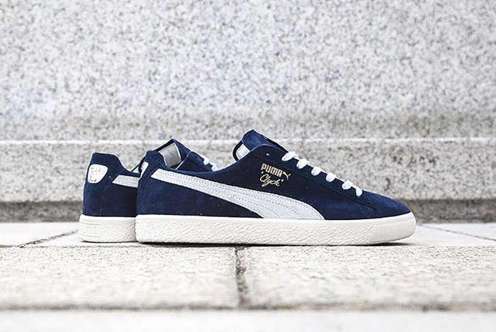 big sale 8af7f 26680 PUMA-CLYDE-NAVY   Sneakers in 2019   Pinterest   Puma sneakers ...