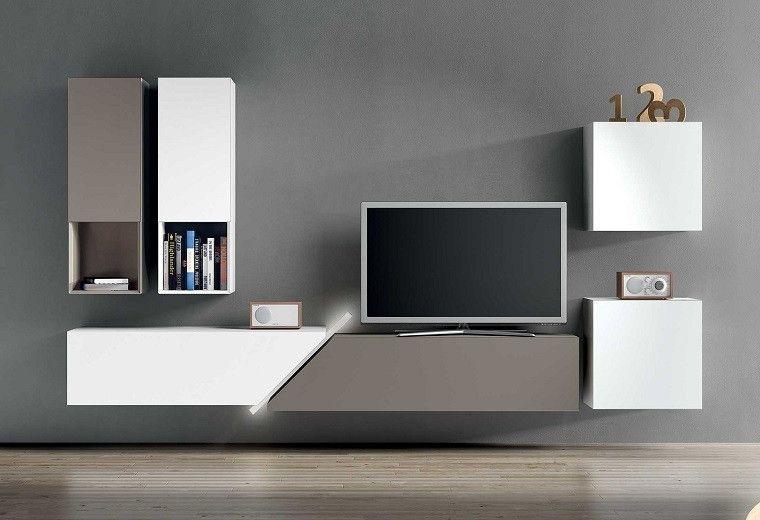 Muebles Tv Blanco Gris Modernos Muebles Para Tv Modernos Muebles Para Tv Muebles De Entretenimiento