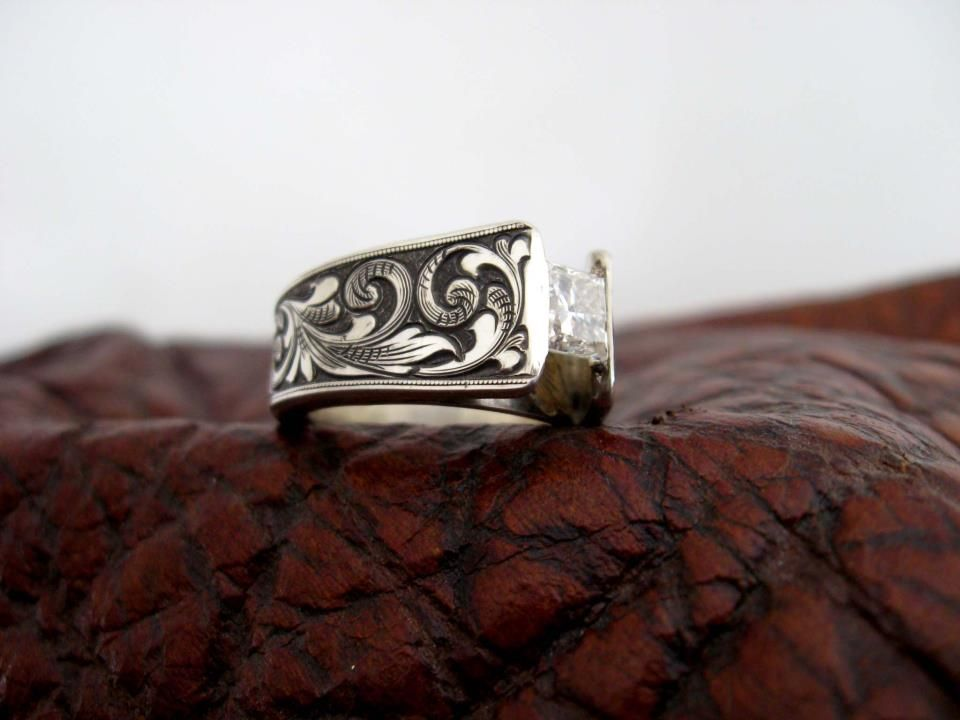 custom made western wedding rings by travis stringer contact us on facebook ring - Western Wedding Rings