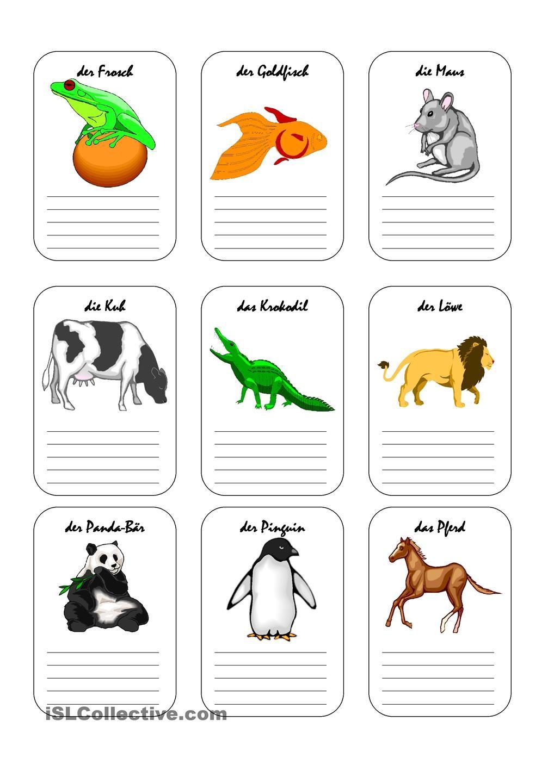 Wie sind die Tiere? | nemčina | Pinterest | Deutsch, Worksheets and ...