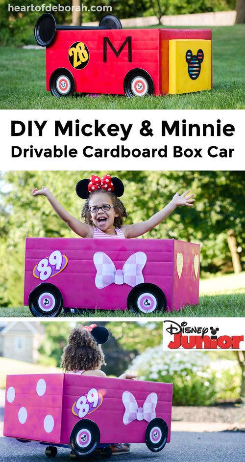Diy Mickey And The Roadster Racers Cardboard Box Car Cardboard