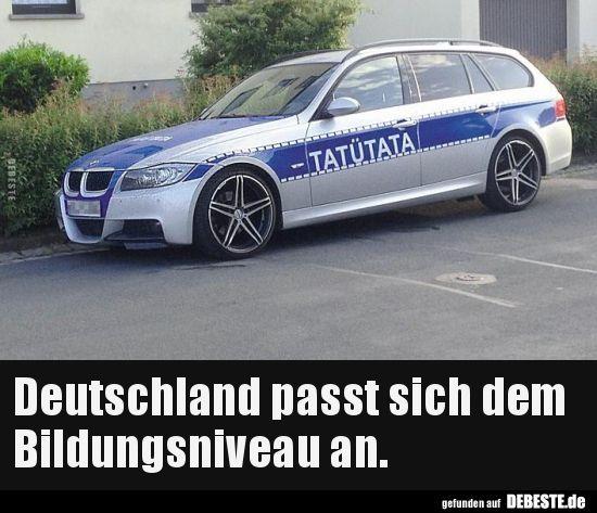 Deutschland passt sich dem Bildungsniveau an... #funnypictures