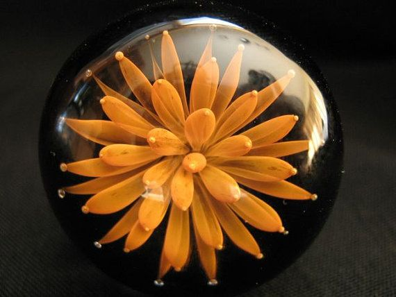 blooming flower knob - gorgeous and hand made