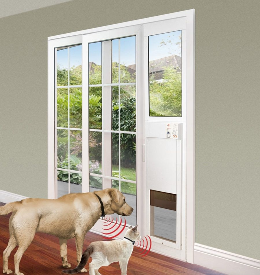 Automatic Pet Door Doggie For Sliding Glass Paw Ideal Doors Within
